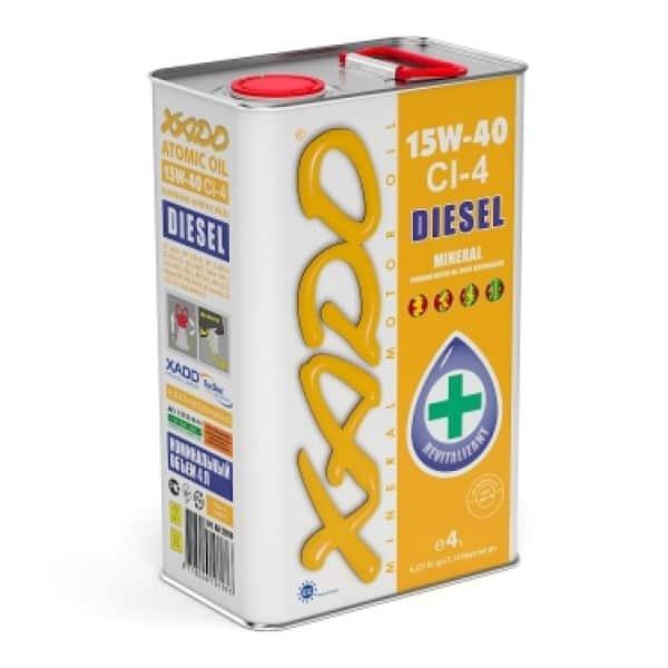 Минеральное дизельное масло 15W40 CI 4 Diesel Xado