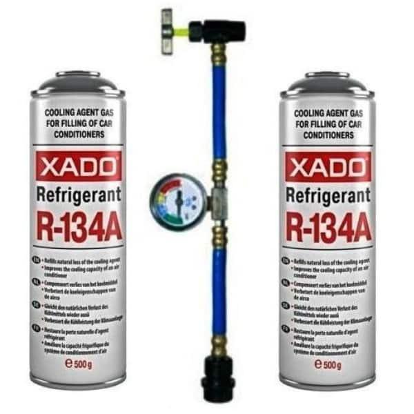 Набор для самостоятельной заправки автокондиционера Xado-Express (2 фреона и коннектор)