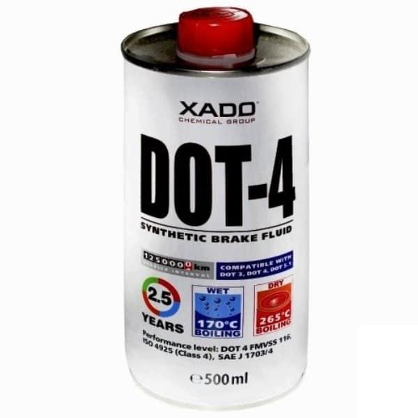 Синтетическая тормозная жидкость DOT-4 Хадо